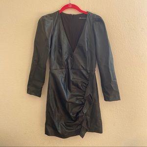 Zara Dress faux leather